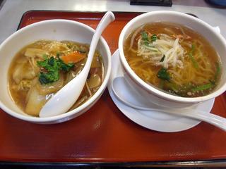 ラーメン中華丼セット@中華食堂