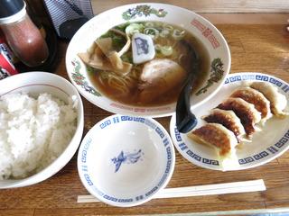 ラーメン餃子セット@みゆき食堂