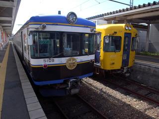 松江しんじ湖温泉駅到着