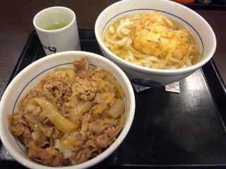牛丼&朝かき揚げうどん