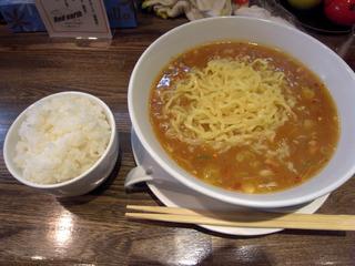 担担麺とライス