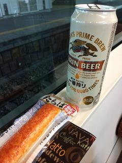 ビールとカニカマ