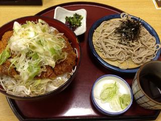 塩カツ丼+蕎麦