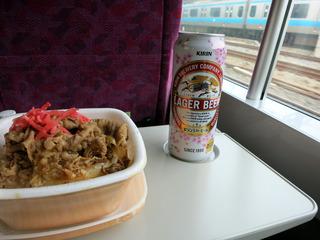 牛丼ビール