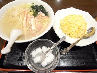 鶏細切り麺チャーハン