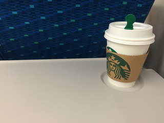 新幹線でコーヒー