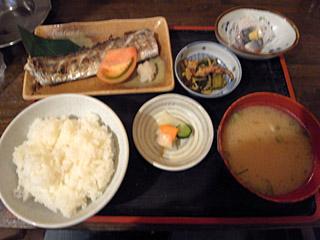 太刀魚焼き魚定食@金時
