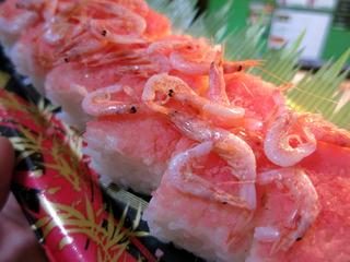 桜えびの押し寿司