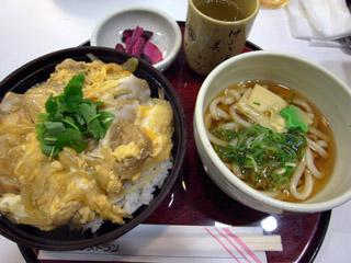 親子丼+小うどんセット@多賀SA