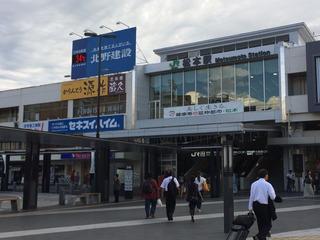 松本駅34℃