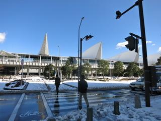 雪のパシフィコ横浜
