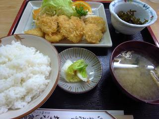 ホタテフライ定食@おさない