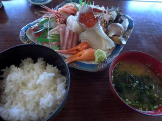 お刺身+ごはんセット@吉川鮮魚店