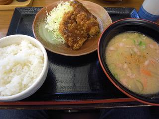豚汁定食@かつや