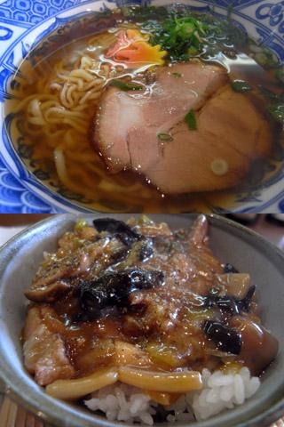 津軽らーめん+六宝丼@十三