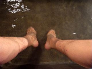 足湯でゆるゆる