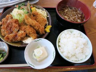 ミックスフライ定食@増田屋