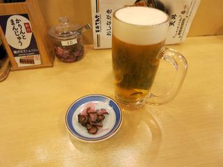 ビールとお新香