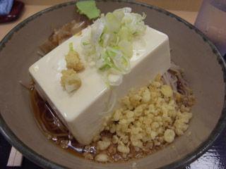 豆腐一丁そば@箱根そば