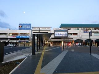 松本駅は氷点下