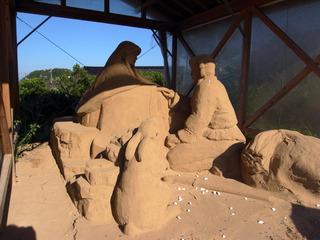 神話の砂の像