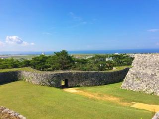 城跡の眺め