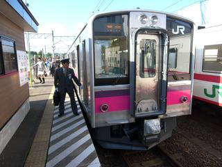 蟹田駅で乗り換え-701系
