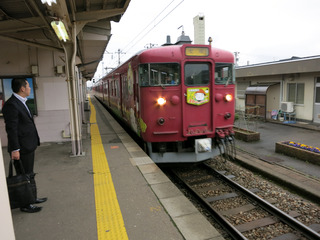 津幡駅にて
