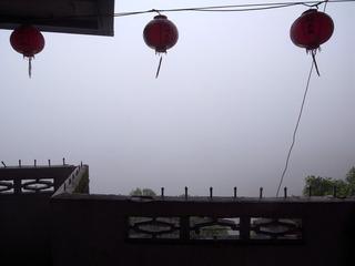 霧?雲?で真っ白