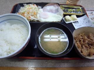 ハムエッグ小鉢定食