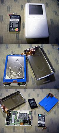 iPod(3G)バッテリー交換