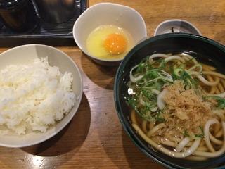 朝うどんセット@麺家