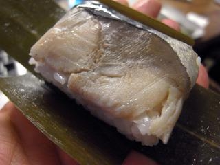 鯖寿司にしました。