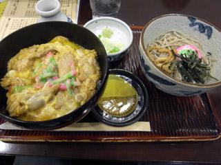 親子丼セット@ごまそば八雲