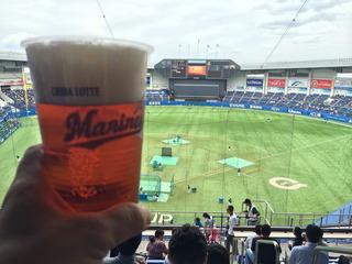 至福の球場ビール