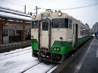 会津宮下駅にて