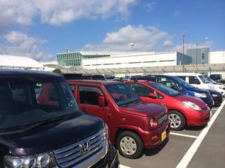 静岡空港に到着
