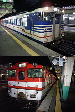 キハ新津駅にて