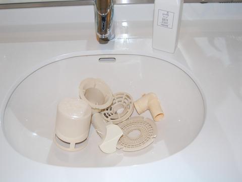 洗濯排水口の掃除