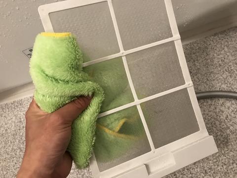 浴室のフィルター掃除