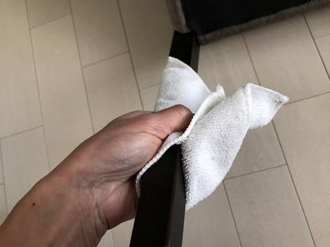 ダイソーのイス脚キャップ