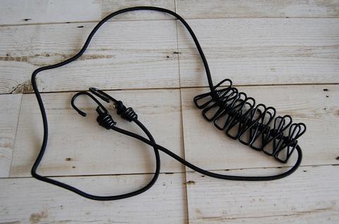 キャンピング用物干伸縮ロープ
