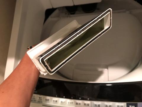 洗濯機のフィルター掃除