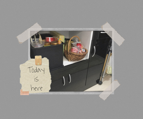モノと収納の見直しキッチン食器棚