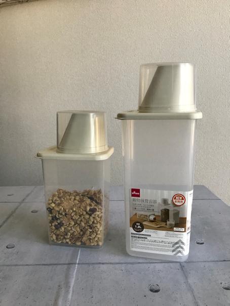 ダイソーの「穀物保管容器」