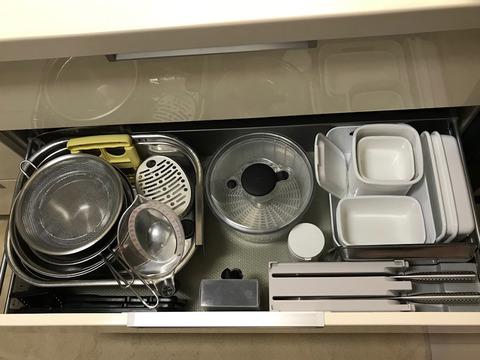モノと収納の見直しキッチンシンク下引き出し