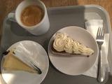 キャロットケーキとニューヨークチーズケーキ