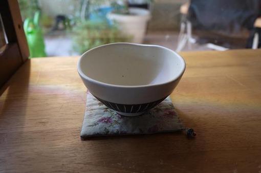 チョコ削り茶碗