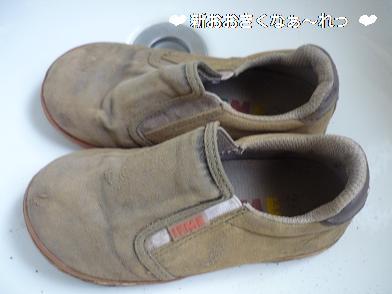 泥だらけの靴