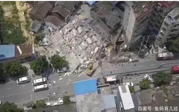 中国マンション倒壊